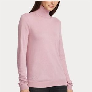 Ralph Lauren silk cashmere turtleneck sweater M